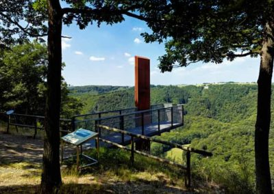 Ferienwohnung Lescher – Blick ins Uessbachtal